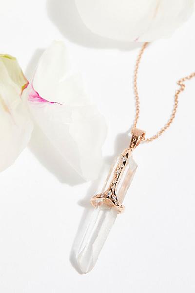 Sirciam Jewelry Quartz Healing Stone Necklace