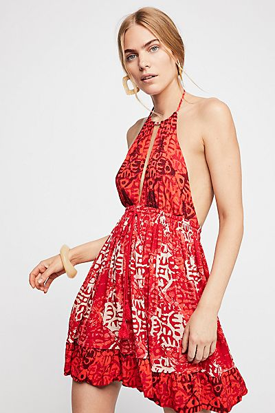 "Free People Boho Mini Dress ""Beach Day"""