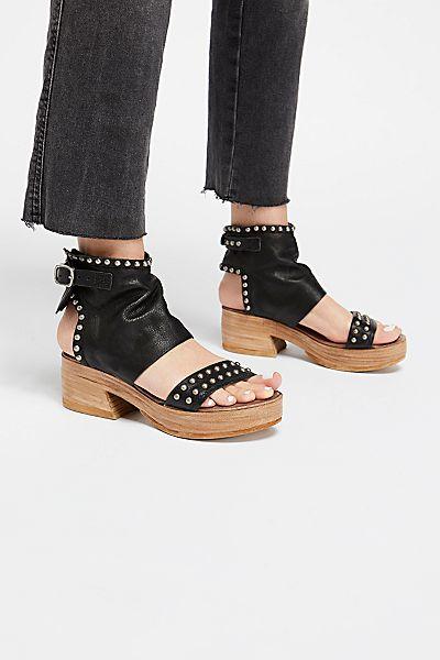 A.S.98 Louise Platform Clog Sandals
