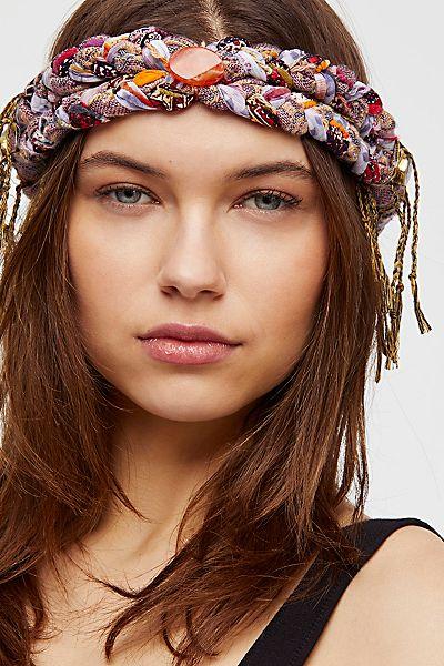 Curried Myrrh Fringe Braided Boho Headband