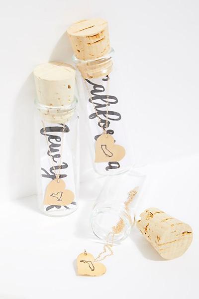 M. Florita Heart In A Bottle Necklace
