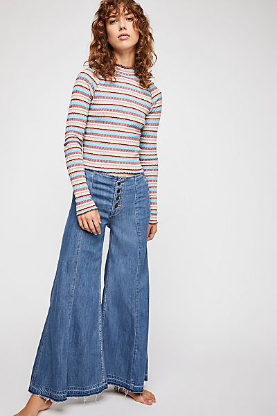 Free People Extreme Wide Leg Jeans