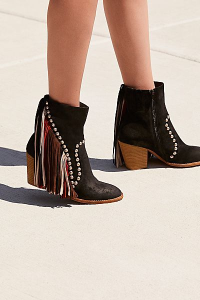 "Jeffrey Campbell Fringed Western Ankle Boot ""Meadow Fields"""