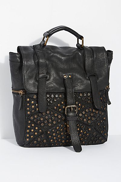 "Civico Distressed Leather Backpack ""San Vito"""