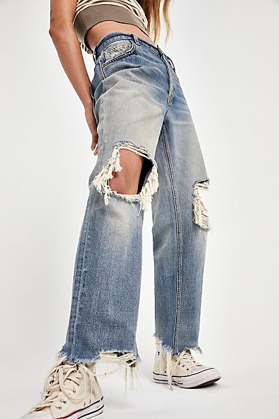 "Free People Jeans ""Distressed Maggie"""
