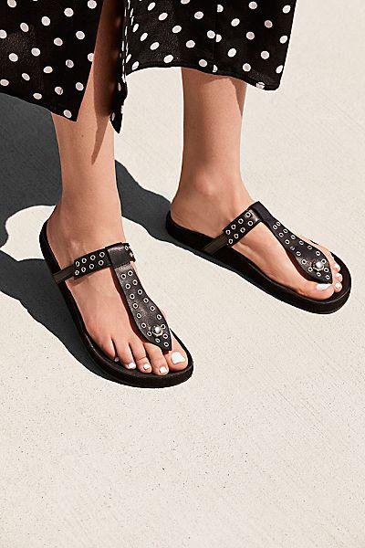 "Free People Slip-On Sandals ""Summer Nights Grommet"""
