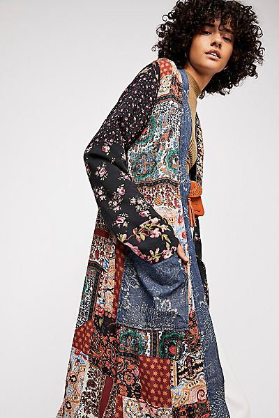 "Free People Bohemian Patched Coat ""Songbird"""
