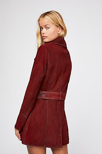 "Free People Suede Peacoat ""Agent 99"" We The Free"