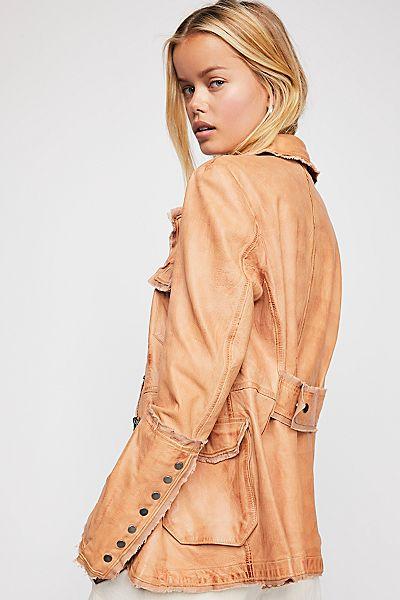 "JAKETT Leather Jacket ""Meryl"" Retro Style"