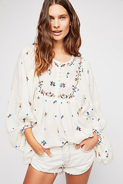 """Free People Boho Peasant Top Tunic """"Kiss From A Rose"""""""