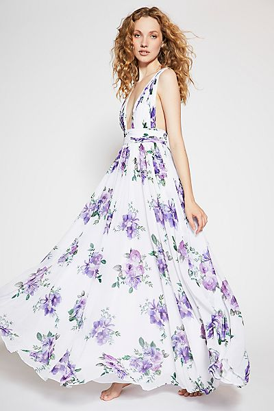 "Fame & Partners Floral Boho Maxi Dress ""The Valeria"""