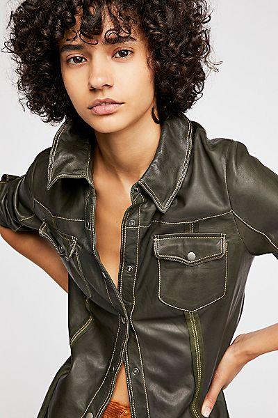 "JAKETT Leather Shirt Jacket ""Robin"""