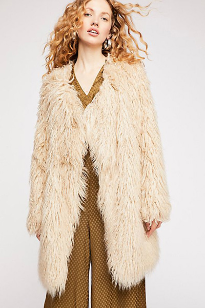 "Free People Retro Faux Fur Coat ""Florence"""