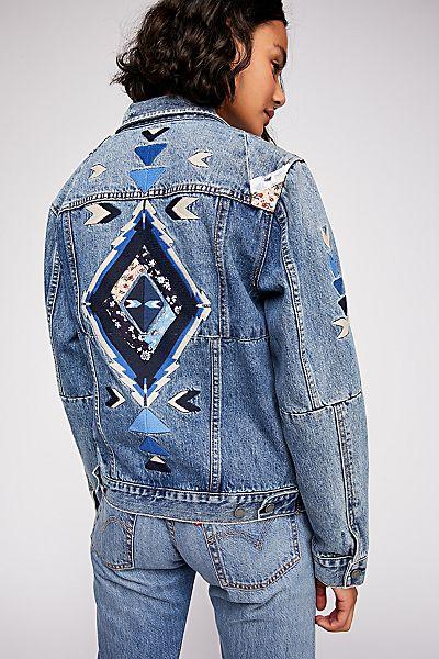 """Blank NYC Patchwork Denim Jacket """"Pub Crawl"""""""