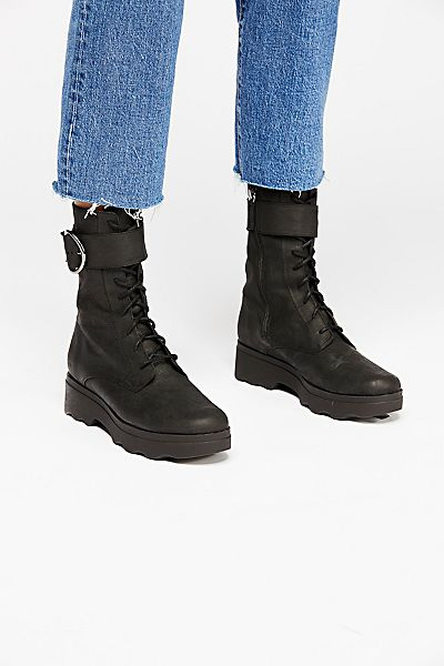 """Free People Lace Up Boot """"Harley"""" Biker"""