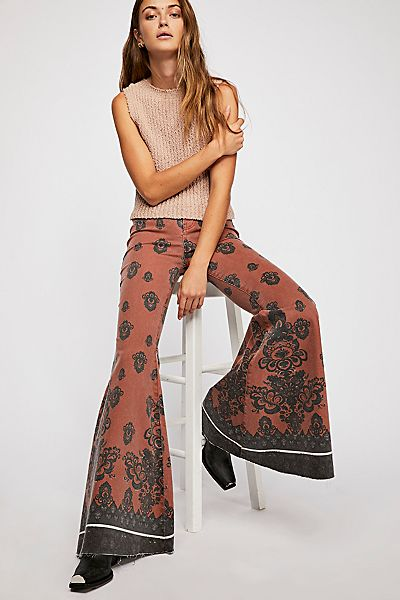 "Free People Flare Jeans ""Just Float On '70s"""