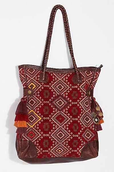 """Free People Bohemian Tote Bag """"Luma Tapestry"""""""