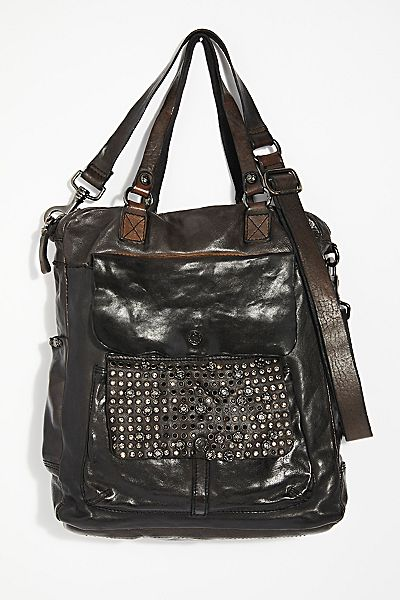 "Campomaggi Bag ""Aversa"" Studded Tote"