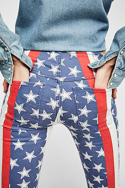"Free People Flare Jeans ""Stars & Stripes"""