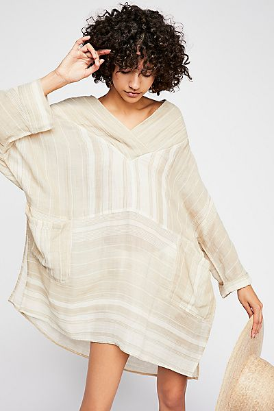 "Free People Slouchy Tunic Mini Dress ""Sandra"" Endless Summer"