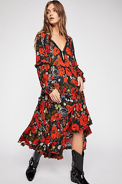"Free People Bohemian Maxi Dress ""In The Moment"""