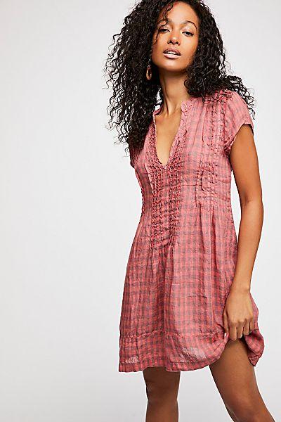"CP Shades Mini Dress ""Riven Linen Tunic"""