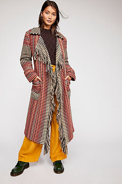 "Free People Plaid Coat ""Mila"""