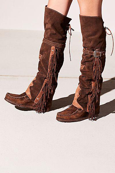 """El Vaquero Boots """"Drifter"""" Tall Moccasins"""