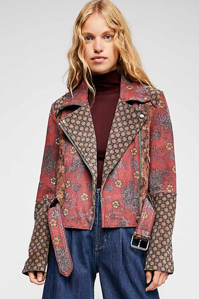 "Free People Boho Jacket ""Prairie Rose"""