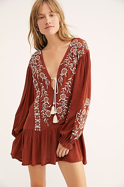 "Free People Mini Dress ""Wild Dreams"" Boho Tunic"