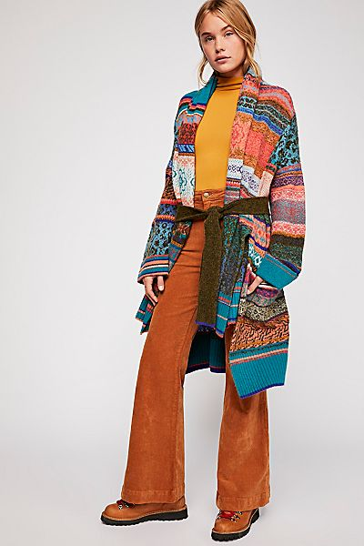 "Free People Cardigan ""Fantasia Fairisle"" Slouchy Jacket"
