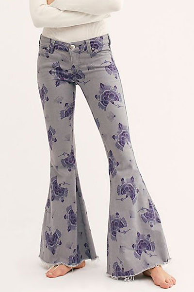 "Free People Super Flare Jeans ""Grey Gardens"""
