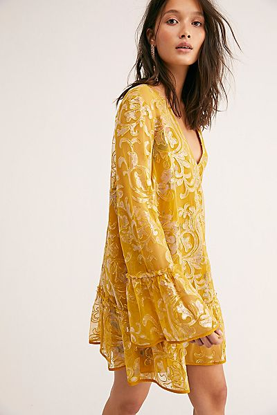 "Free People Mini Dress ""Falling Flowers Frock"""