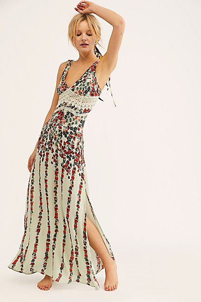 """Free People Maxi Slip Dress """"Claire"""""""
