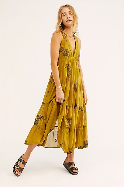 "Free People Midi Dress ""Run Away With Me"""