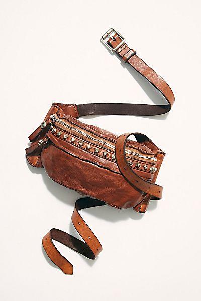 """Campomaggi Studded Leather Belt Bag """"Marbella"""""""