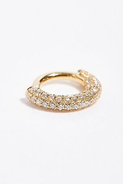 Maria Tash Diamond Single Hoop Earring