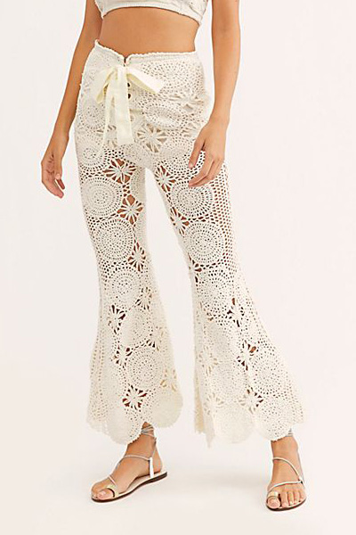 """Free People Crochet Pants """"Dragonfly"""""""