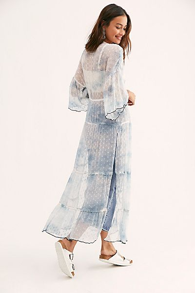 "RAHI California Cool Tie Dye Kimono ""Malibu"""
