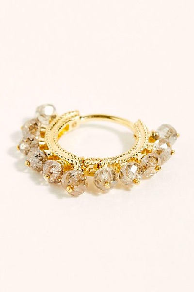 "Maria Tash Single Earring ""Champagne Diamond Coronet"""