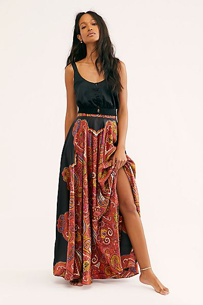 "Free People Maxi Skirt ""Paisley Dreams"""