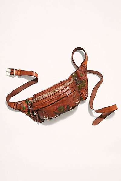 "Campomaggi Crossbody Belt Bag ""Lotus Floral"""
