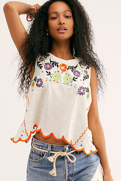 "Free People Tops ""Gardenia Tank"""