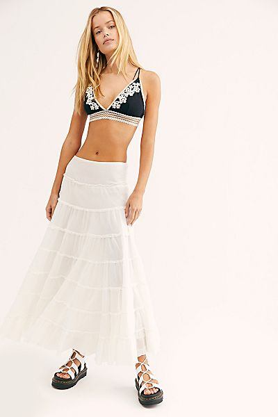 "Free People Skirt ""Tiered Maxi"""