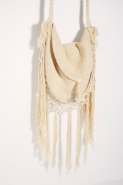 Macrame Fringed Shoulder Bag