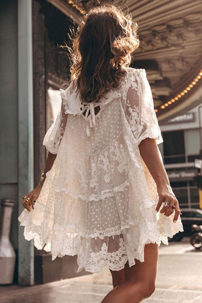 "Spell Mini Dress ""Dawn Lace"""