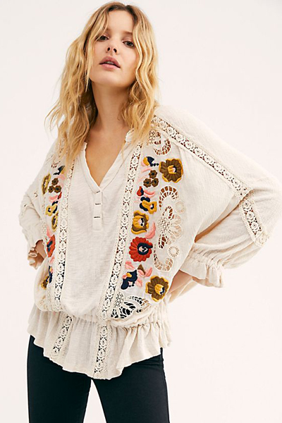 "Free People Top ""Serafina Blouse"""