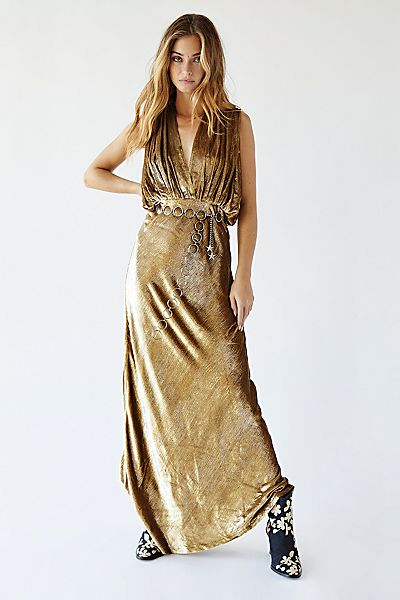 "Mes Demoiselles Maxi Dress ""Gold Helen"""