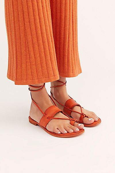 "Free People Wrap Sandals ""Sicily Flats"""