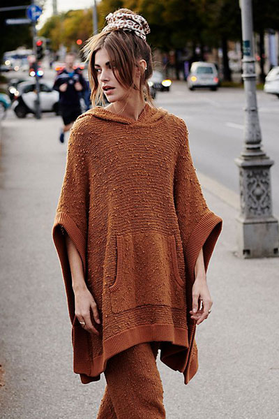 "Free People Sweater ""Easy Breezy Poncho"""